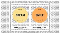 Denmark - Yoko Ono - Mint souvenir sheet