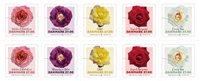 Danemark - Roses - Bande de 10 timbres neufs
