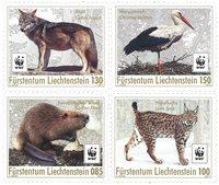 Liechtenstein - WWF Animaux - Série neuve 4v