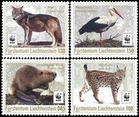 Liechtenstein - WWF Verdensnaturfonden - Postfrisk sæt 4v