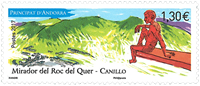 France - Roc del Quer - Mint stamp