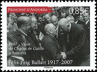 France - Felix Peig Ballart - Mint stamp