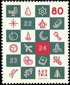 Østrig - Adventskalender - Postfrisk frimærke