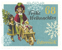 Austria - Christmas 2017 - Mint stamp from coil