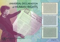 United Nations - Human Rights - Mint souvenir sheet