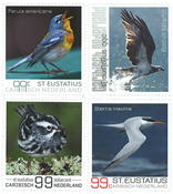 St Eustace - Oiseaux - Série neuve 4v