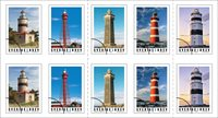Suède - Phares - Bande de 10 timbres neufs
