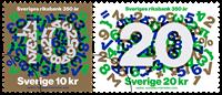 Sverige - Nationalbanken 350 år - Postfrisk sæt 2v