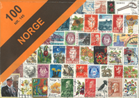 100 timbres Norvège