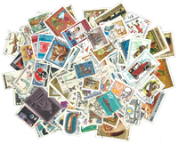 World Wide - 300 different commemorative stamps