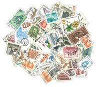 Poland - 100 diff. stamps
