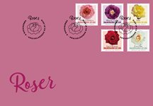 Denmark - Roses - First day cover