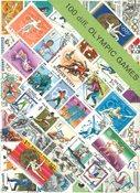 OL - Frimærkepakke - 100 forskellige