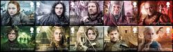 England - Game of Thrones - Postfrisk sæt 10v