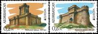 Aserbajdjan - Europa 2017 Slotte - Postfrisk sæt 2v