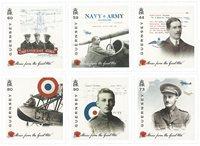 诺菲集邮,根西岛新邮,第一次世界大战历史故事 - 新票套票6枚