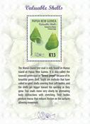 Papua Ny Guinea - Værdifulde konkylier - Postfrisk miniark 1v