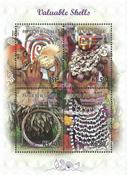 Papua Ny Guinea - Værdifulde konkylier - Postfrisk miniark 4v