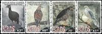 Papua Ny Guinea - Sjældne fugle - Postfrisk sæt 4v