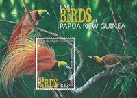 Papua Ny Guinea - Sjældne fugle - Postfrisk miniark 1v