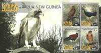 Papua Ny Guinea - Sjældne fugle - Postfrisk miniark 4v