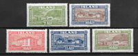 Iceland 1925 - AFA 114-118 - Unused
