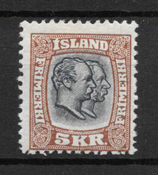 Iceland 1907 - 62 AFA - Unused