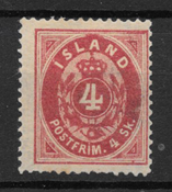 Iceland 1873 - AFA 2 - Unused