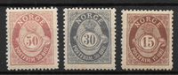 Norway 1893 - 60B etc. - Unused