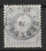 Norway 1856 - AFA 3 - Cancelled