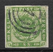 Denmark 1858 - AFA 8 - Cancelled