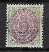 Danish West Indies 1873 - AFA 5a - Cancelled