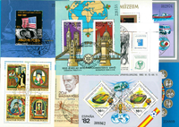 Hungary - 24 diff. cancelled souvenir sheets