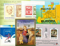 Hungary - 34 diff. mint souvenir sheets