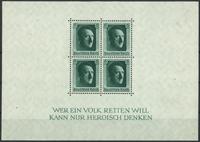 Empire allemand - Bloc-feuillet Hitler, dentelé, neuf