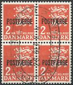 Denmark - Bloc of 4 2 kr. postfaerge