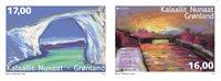 诺菲集邮,格陵兰岛新邮,自然风景的寂静,两枚套票 - 新票套票2枚