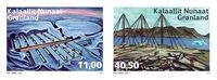 诺菲集邮,格陵兰岛新邮,被遗弃的车站,两枚套票 - 新票套票2枚