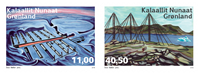 Grønland - Øde stationer - Postfrisk sæt 2v