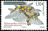 Fransk Andorra - Salamander - Postfrisk frimærke