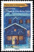 Fransk Andorra - Legende - Postfrisk frimærke