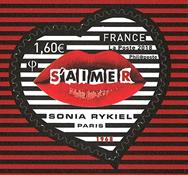 Frankrig - Sonia Rykiel hjerte - Postfrisk selvkl. frimærke s'Aimer