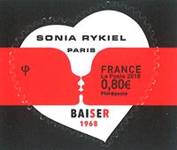 France - Sonia Rykiel coeur Baiser - Timbre neuf adhésif