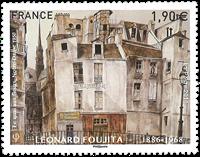 Frankrig - Leonard Foujita - Postfrisk frimærke