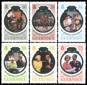 Guernsey - Dronning Elizabeths jernbryllup - Postfrisk sæt 6v