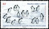 Fransk Antarktis - Pingviner - Postfrisk frimærke