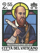 Vatikanet - Francisco de Sales - Postfrisk frimærke