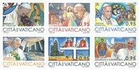 Vatikanet - Pavens rejser - Postfrisk sæt 6v