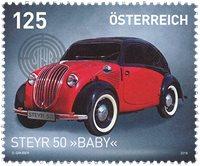 诺菲集邮,奥地利新邮,斯太尔红色婴儿车 - 新票
