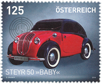 Autriche - Voiture Steyr Baby - Timbre neuf